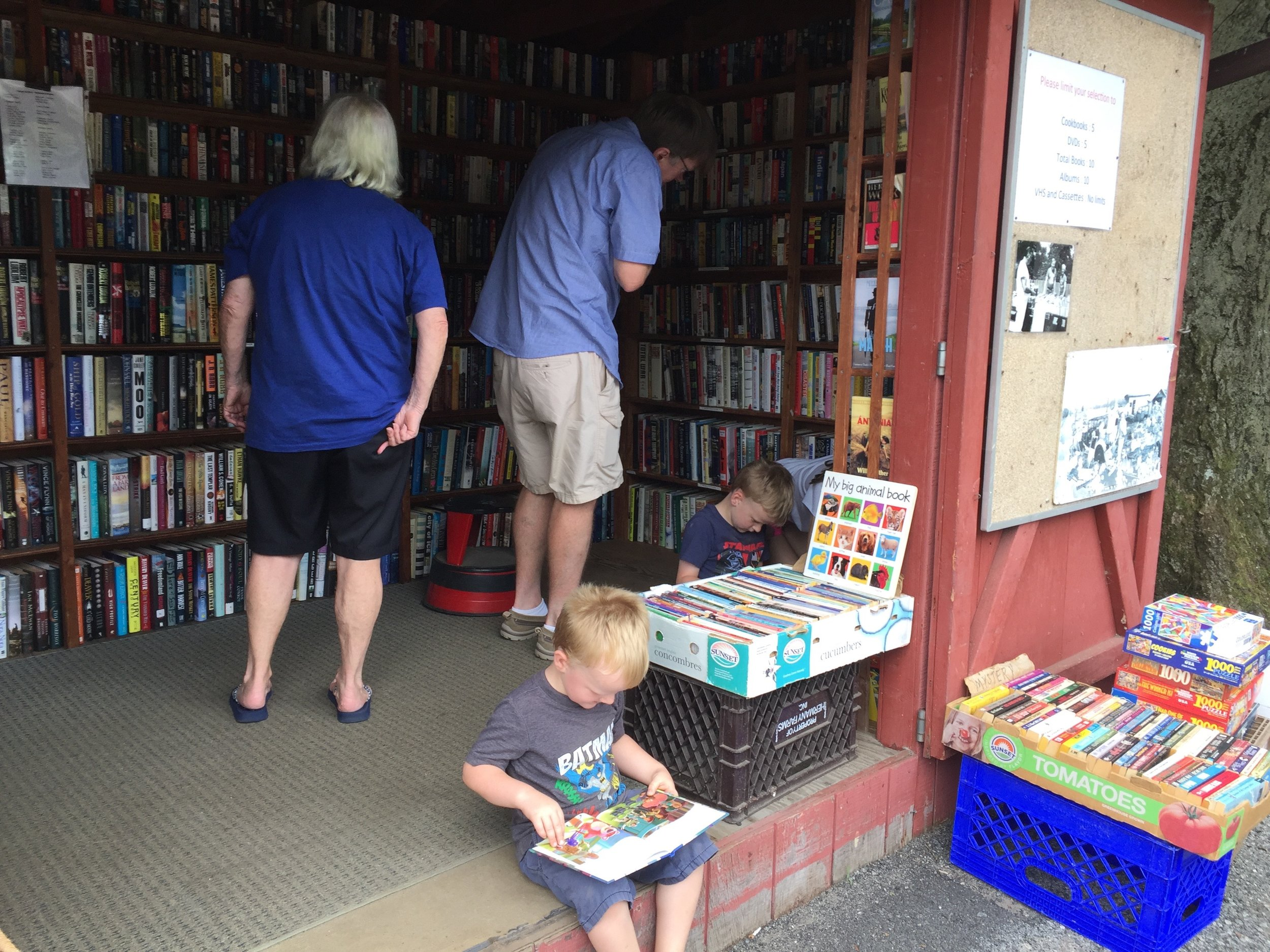 We love it when kids come by to find books