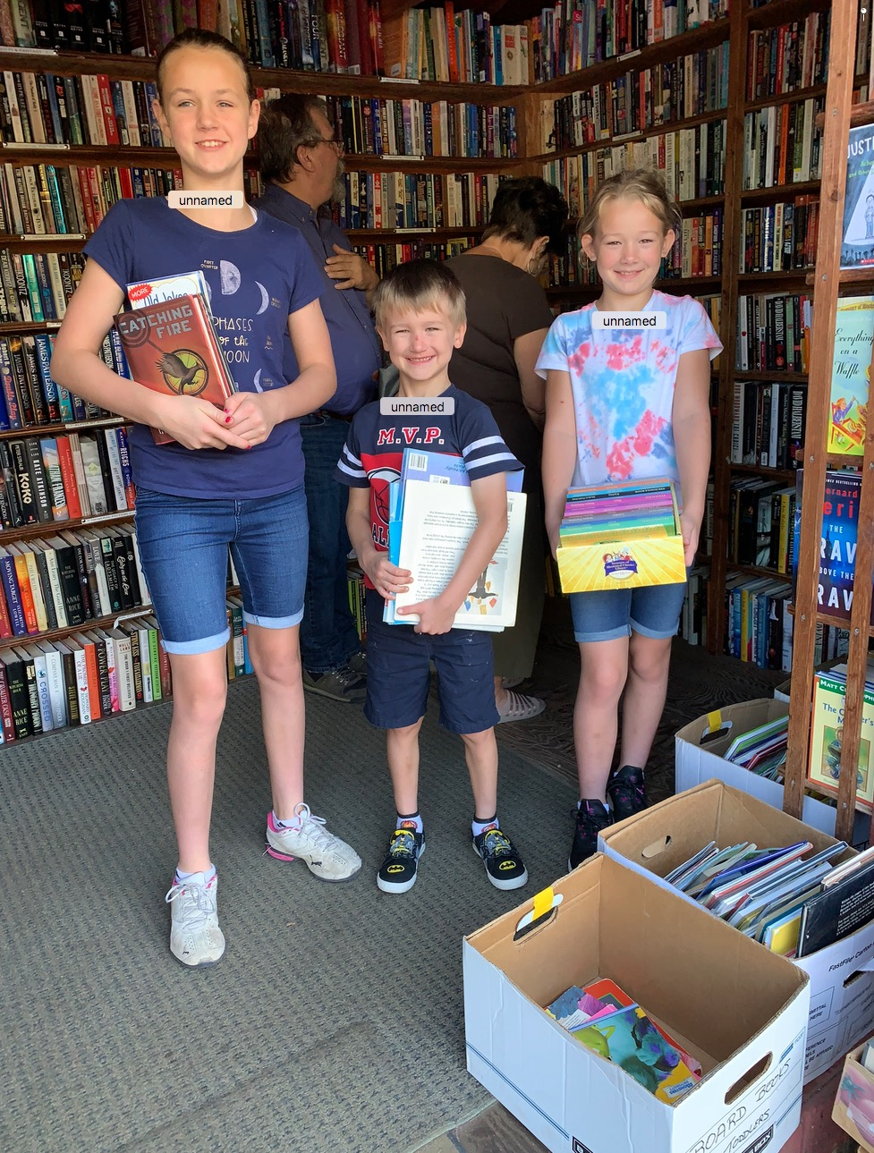 We have increased our selection at the Book Swap at Holly Hill to include more non-fiction and kids books. We love it when families come exploring and find something for every age group. (Mom and Dad did pretty well too!)