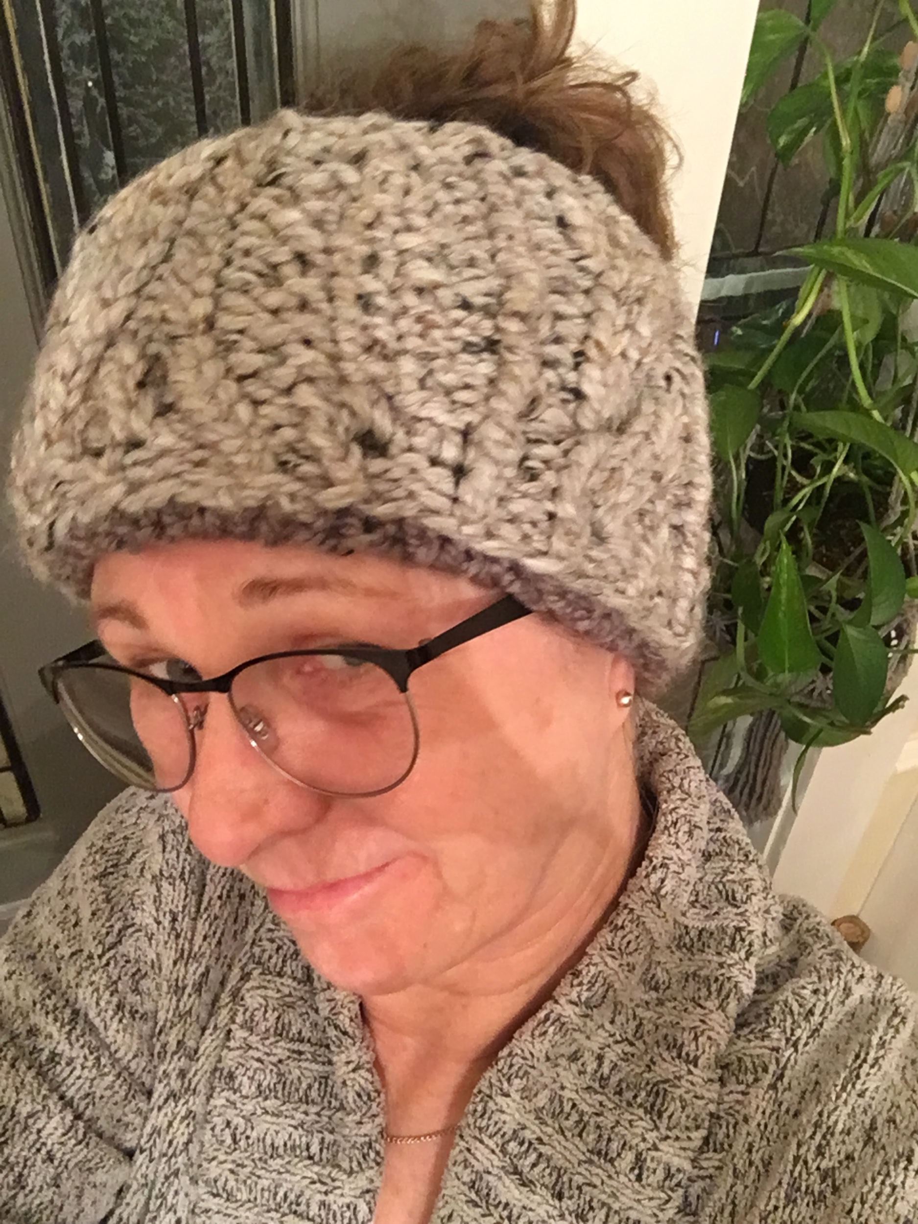 Wool Ear Warmer - Nice and thick with cable detail