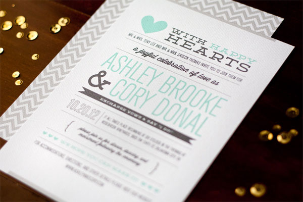 Chevron Pattern Invitation