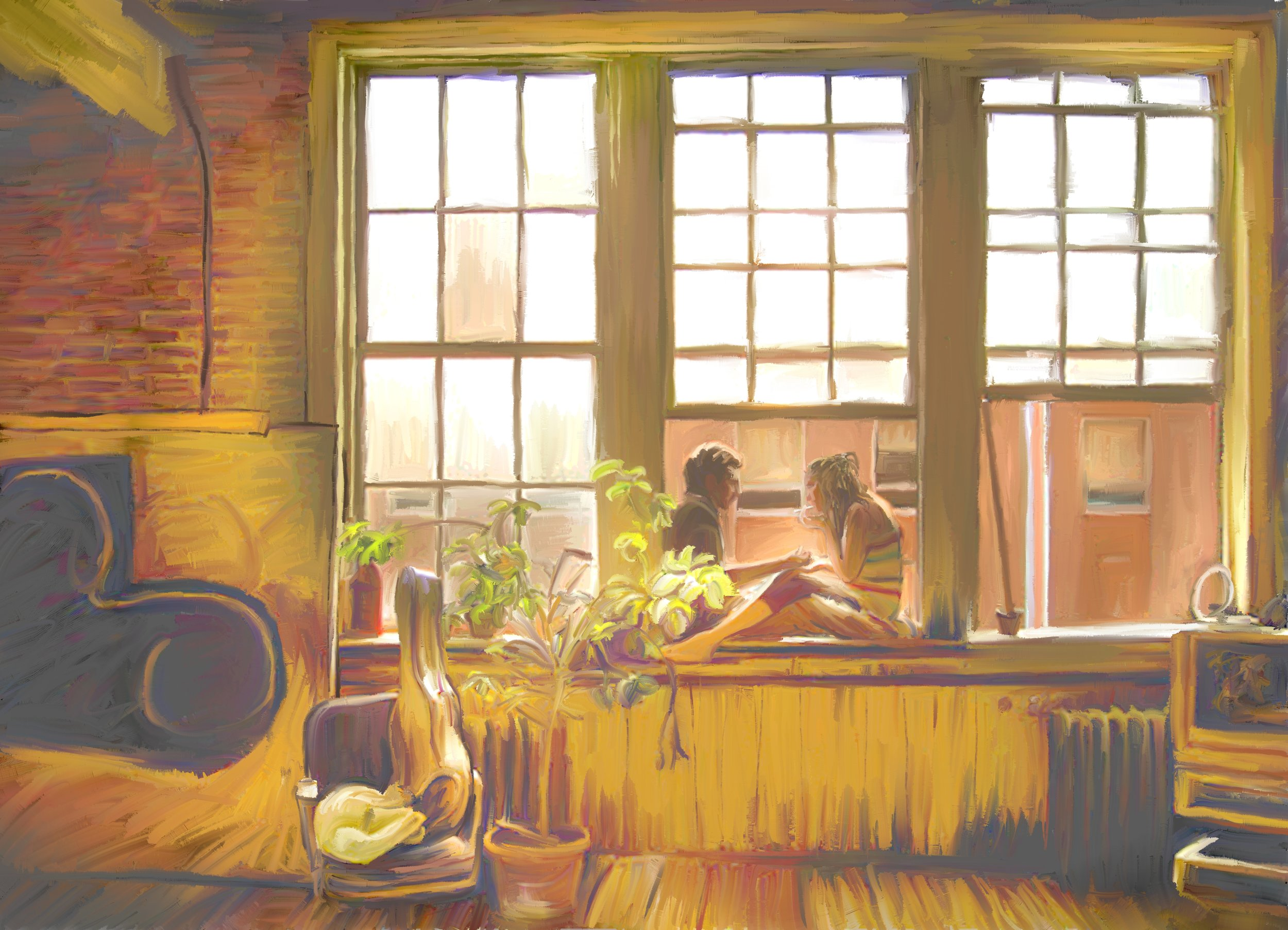 Couple at a Window