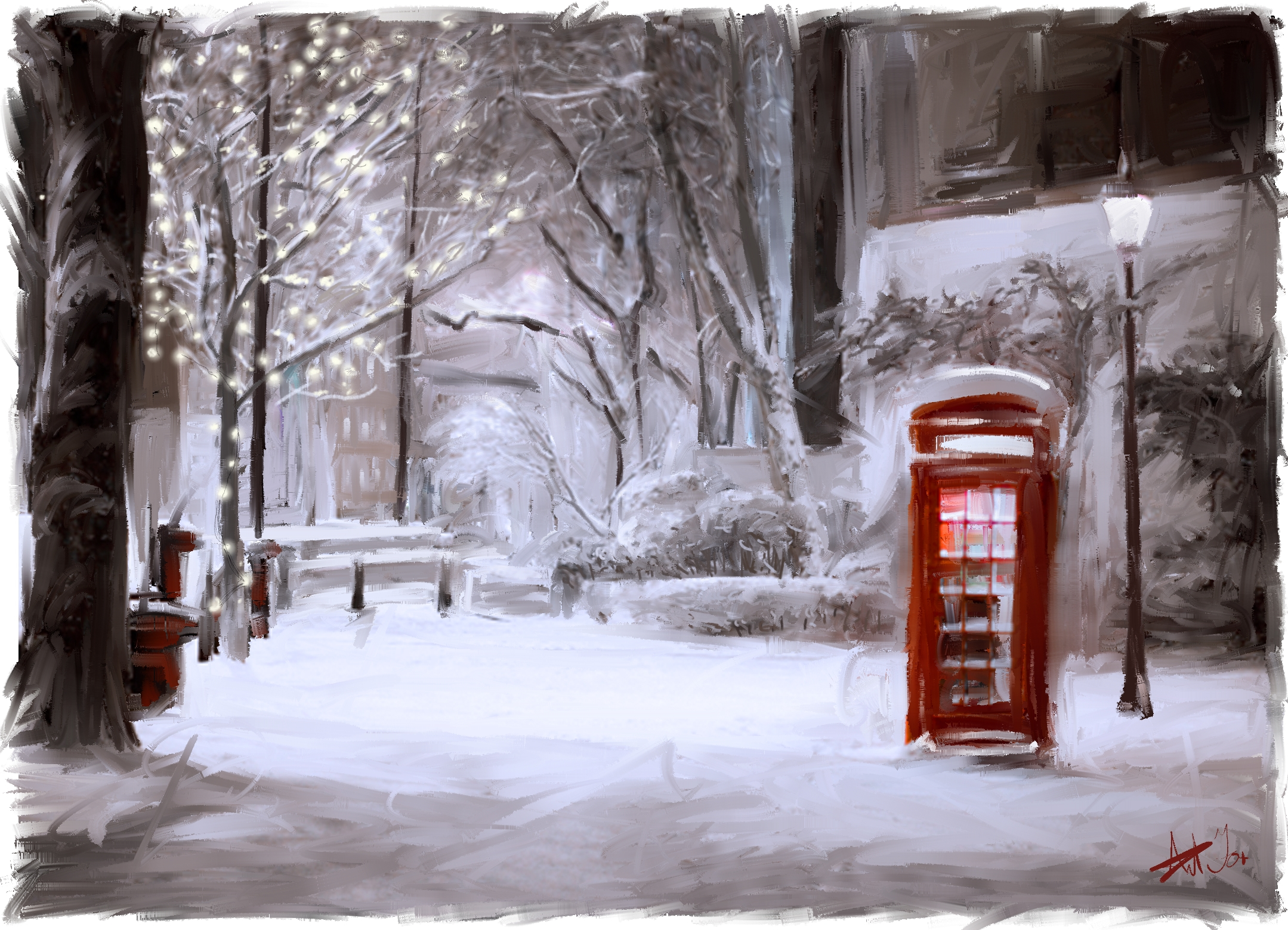 Winter Phonebox