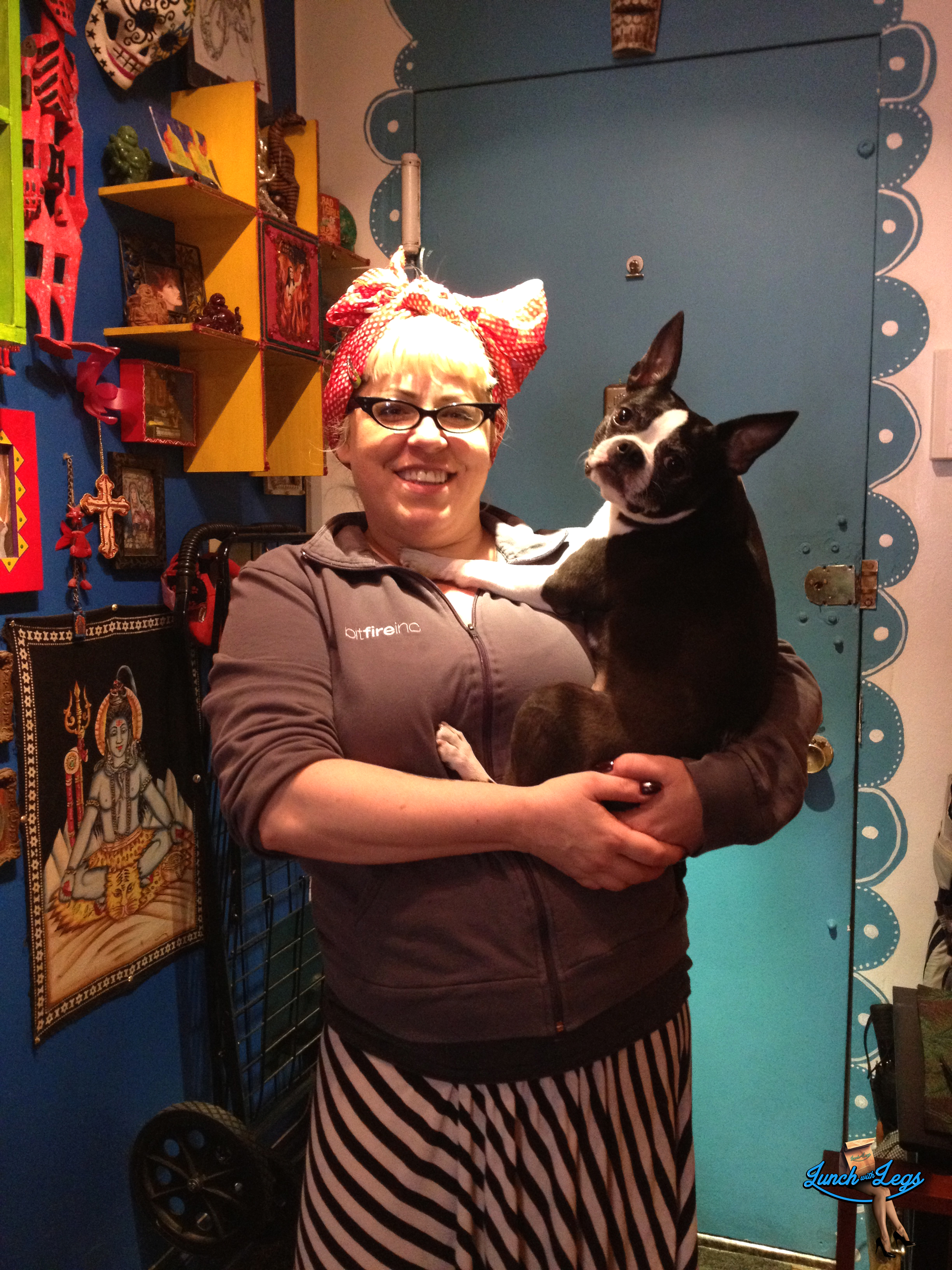 Shelly Watson and her beautiful Boston Terrier Zelda
