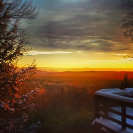 Another gorgeous sunrise over the Berkshires from the House