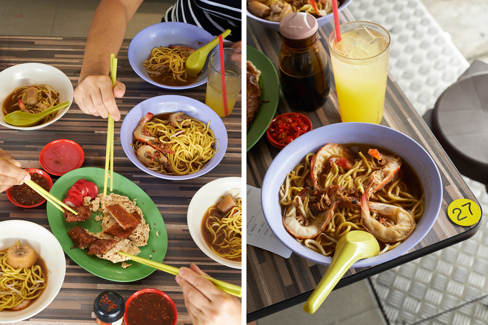 Big Prawn Mee at the Beach Road Noodle House