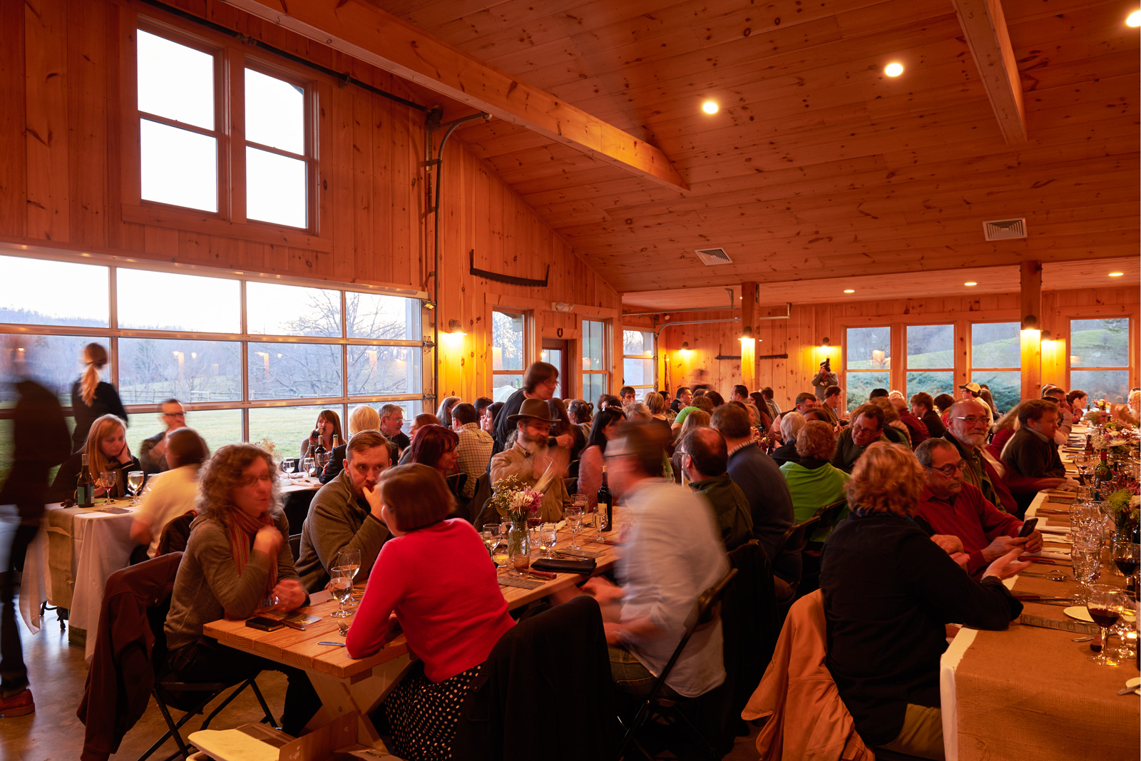 Guests at the Appalachian Storytellers Dinner at Claxton Farms, Weaverville, NC