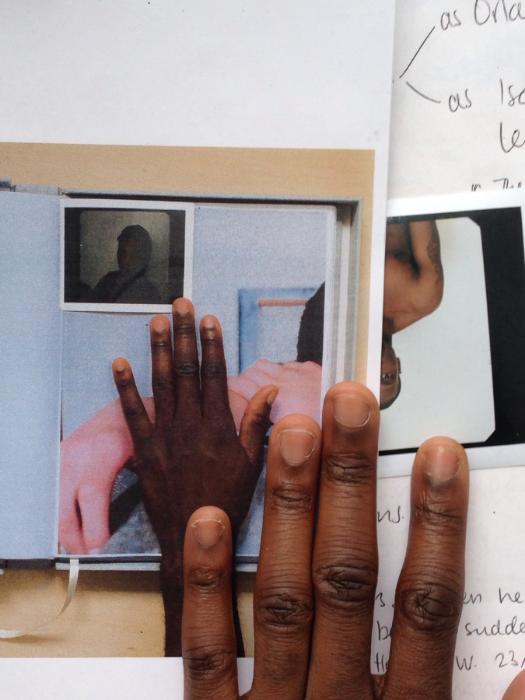 "Paul Mpagi Sepuya, Studio, January 27.2014, Laser print on paper. 8.5"" x 11"". Unique"