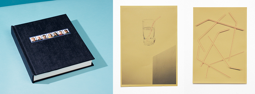 Matthew Avignone's  artist's book  Stranger Than Family ; Daniel Hojnacki's prints  Liquid Diet  and  Straws