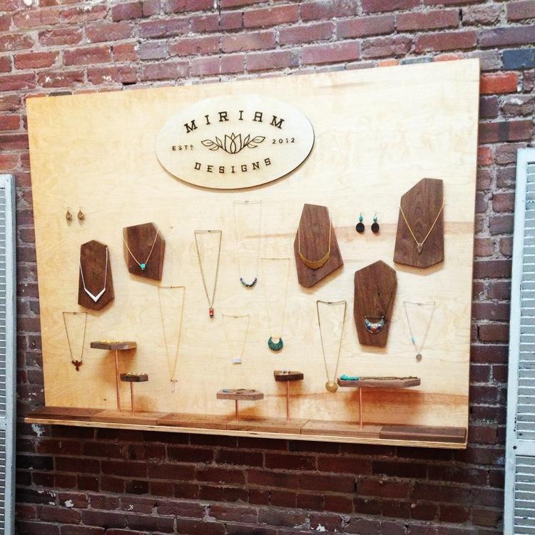 custom jewelry display for miriam designs