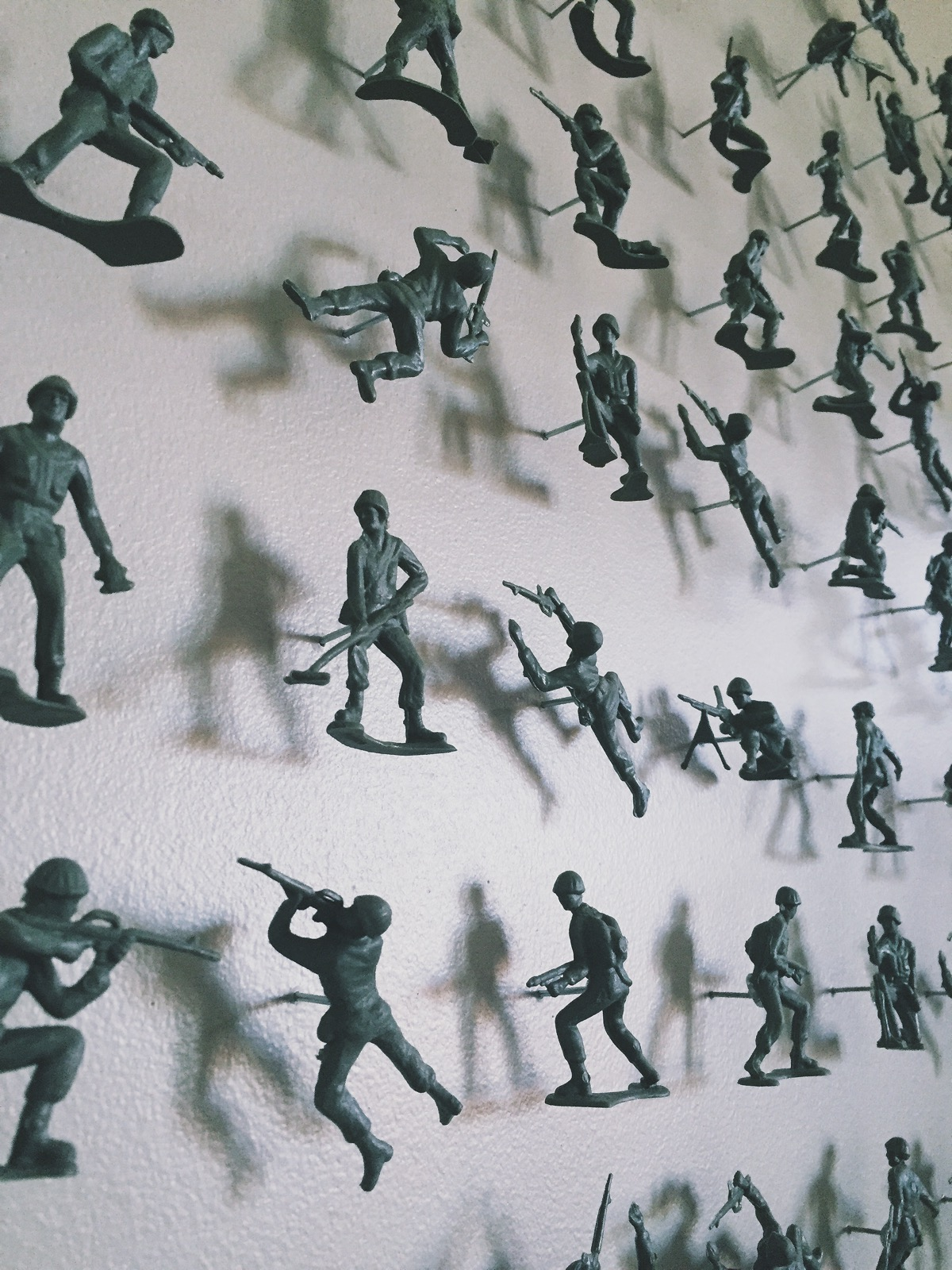 army men as wallpaper. no, but really.