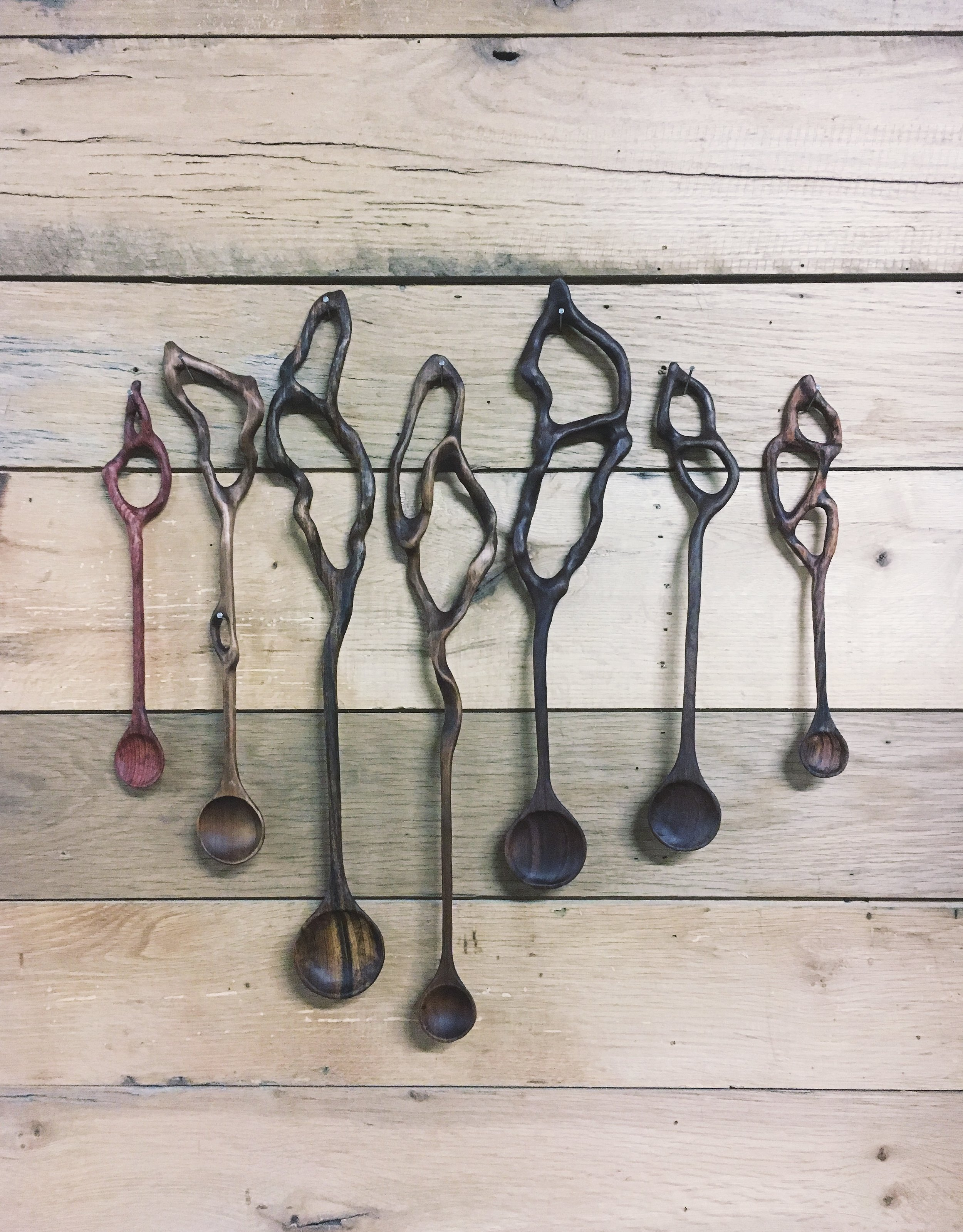 Extra large spoons made for Memphis designer Sean Anderson
