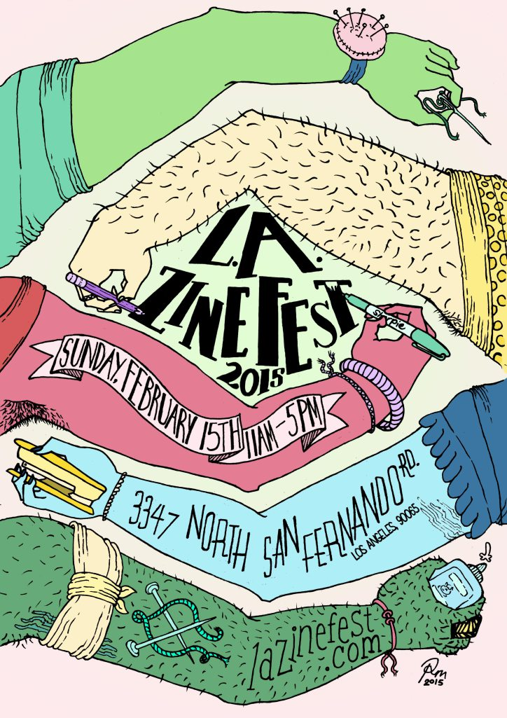 Awesome poster by  Roxy for LA Zine Fest.