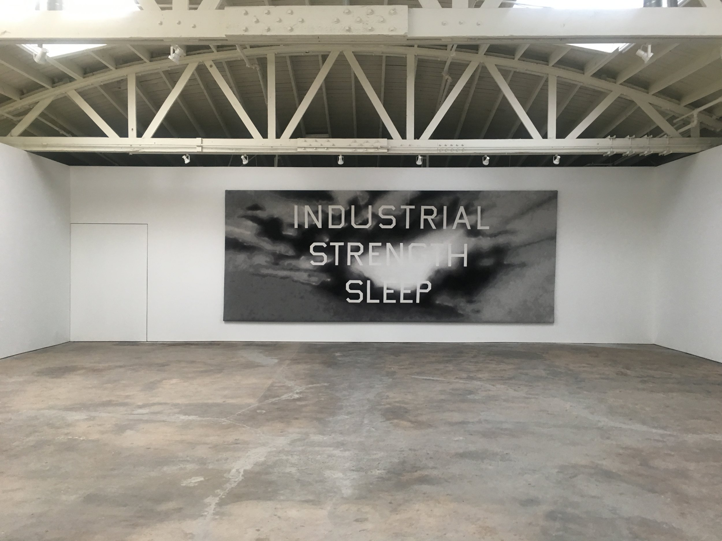 Wonderful to see this work by Ed Ruscha at the new  IBID gallery . It is part of Sleep curated by Paolo Colombo featuring Ed Ruscha,Felix Gonzalez-Torres,Jorge Macchi,Janis Avotinš,Rosemarie Trockel,Robert Gober, and Paul Thek. Also in the gallery is Devin Farrand's gorgeous solo show Heft and a solo show of work by David Adamo. The whole space is dreamy, I am happy they moved to the neighborhood.(Pictured at the very top of the page is my coworker, artist  Jenn Tang ,in a pre-shift zen moment in front of Glen Ligon's Double America at The Broad.)