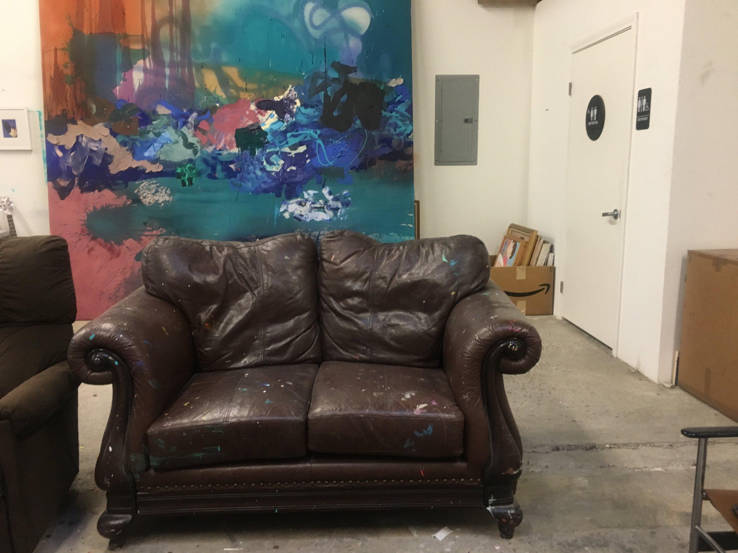Alexander Kroll's studio couch.