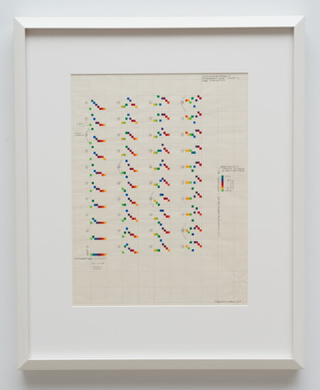 Sonakinatography I, Movement #II, Sheet C, 2nd Variation,  1969. Image courtesy of Ghebaly Gallery, Los Angeles.