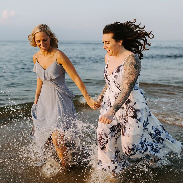 Dear beach, see you next summer . . . #beach #sandhookbeach #hudsonvalleyweddingphotographer #sandyhooknj #sunset #hydebride #engagement #ocean #waves #jerseyshore #lgbt #lgbtwedding #adventurousstorytellers #pride #running #lovestory #dirtybootsandmessywair #adventure #couplegoals #bae #radcouple #weddinginspo #weddingphotographer #tatoo #njweddingphotographers