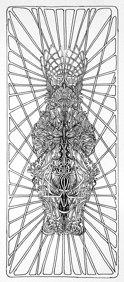 """Xray"" (11-2012) Micron pen on Bristol paper. 5x7""  SOLD"