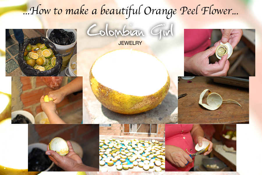 """The 6 easy steps behind every piece of jewelry in our """"Orange Peel"""" collection."""