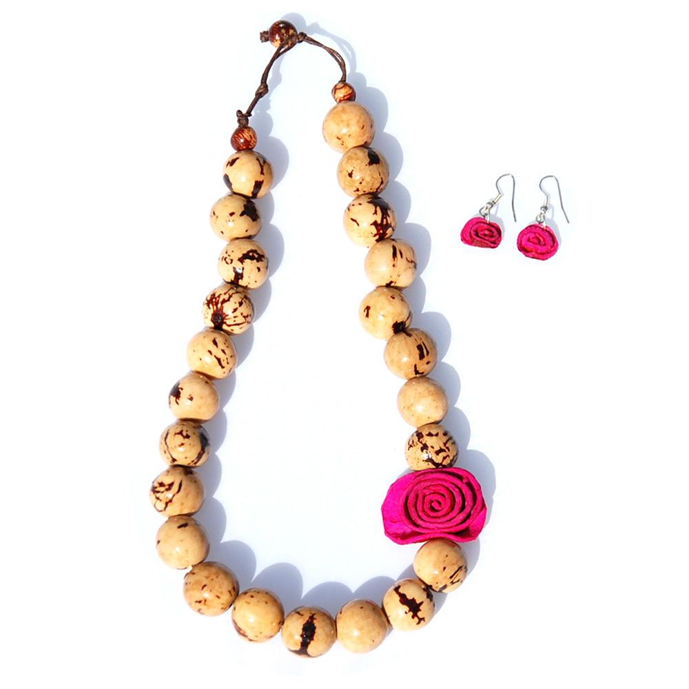 Adjustable Dalmatian Beans Jewelry Set