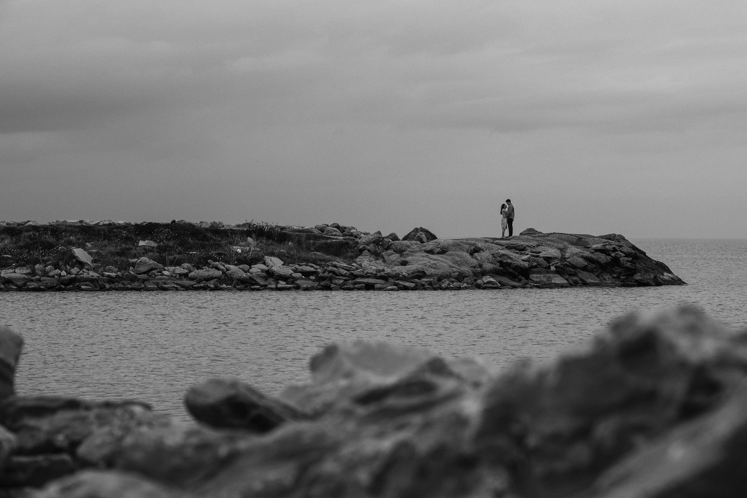 couple on the lake
