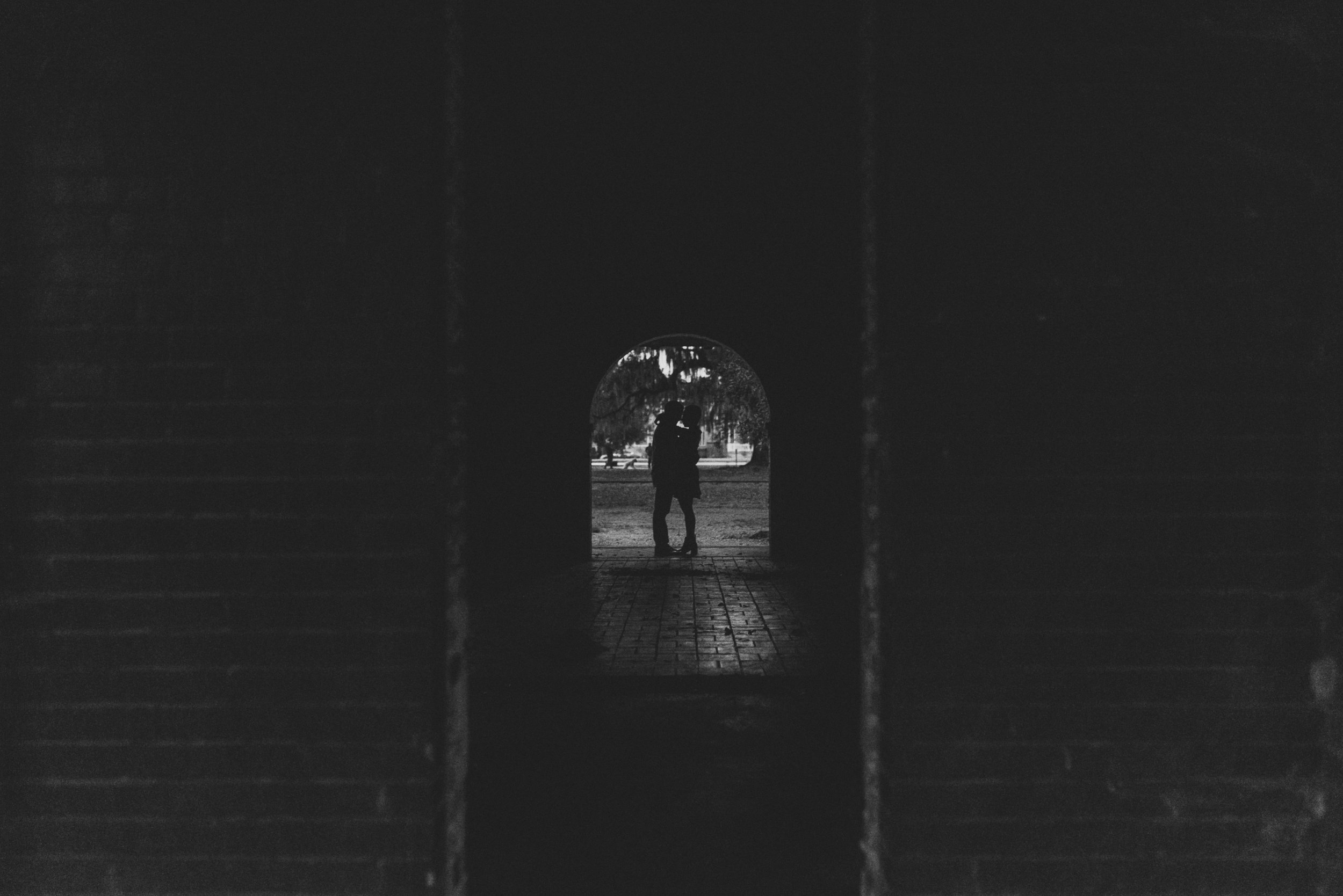 Engagement photography in City Park new orleans