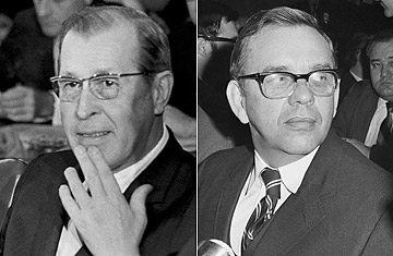 Judge Clement Haynsworth (left) and Judge G. Harrold Carswell (right). Photo credit: AP