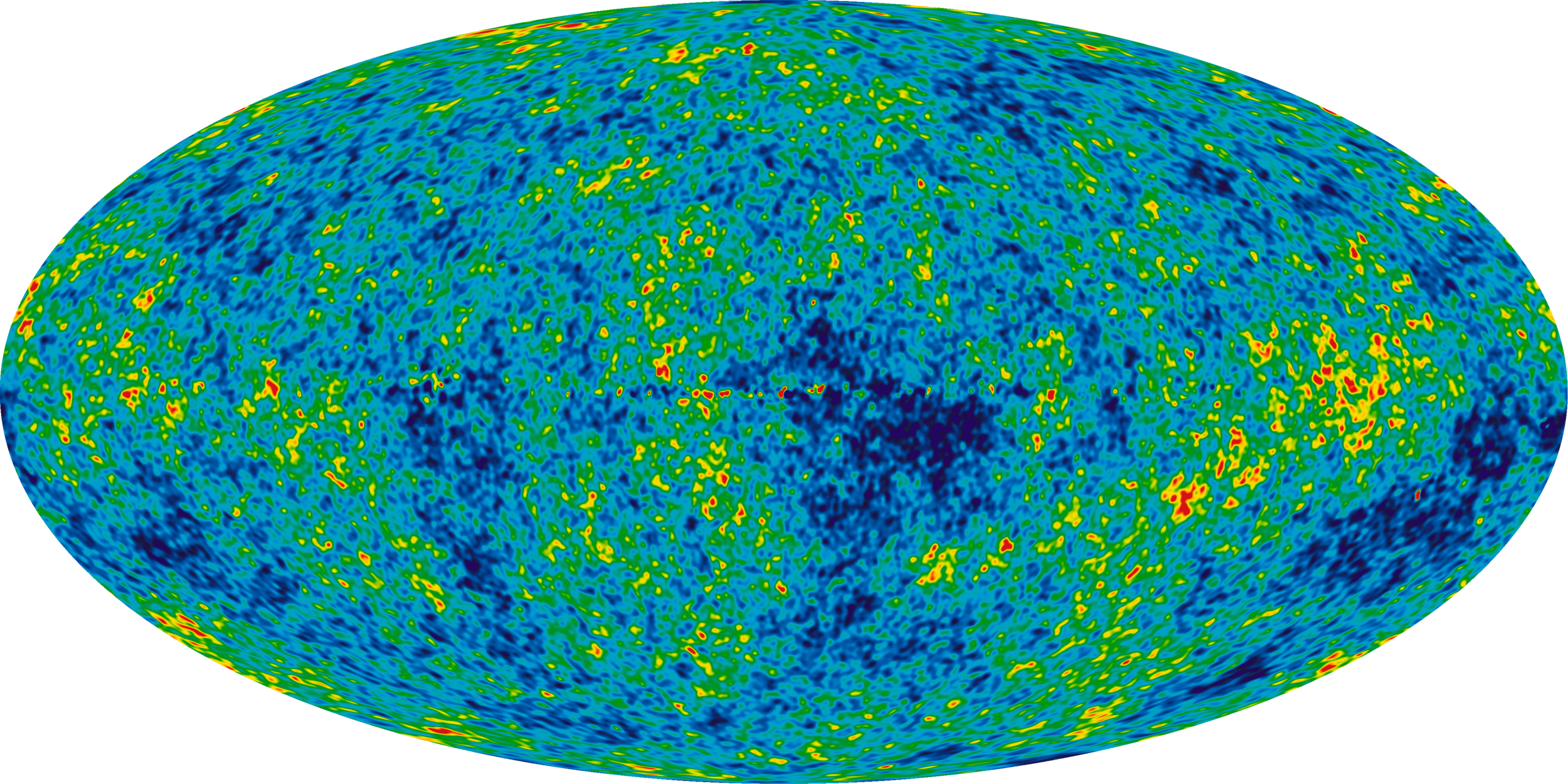 WMAP image of the universe's matter density at 380,000 years