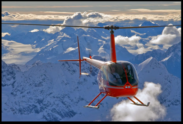 Alpine Air Alaska. Over the Chugach Mounatins at 10'000 ft