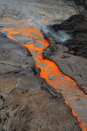 Kiluaea lava flow, Hawaii