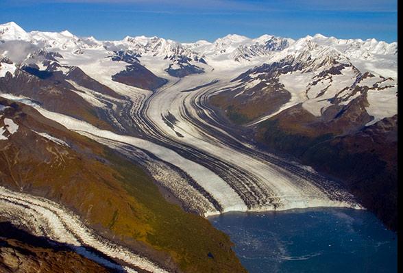 Glaciers, Chugach Mountains, Alaska