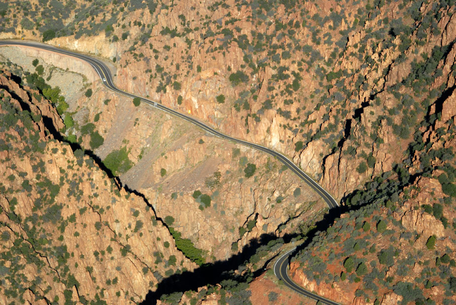 The road to Prescott, Arizona, USA