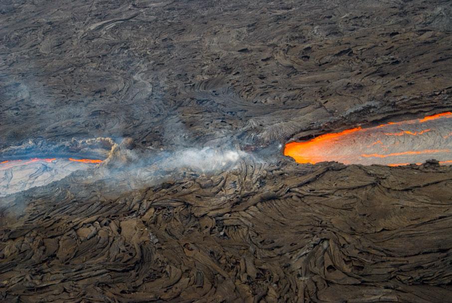 Kilauea lava flow, Hawaii