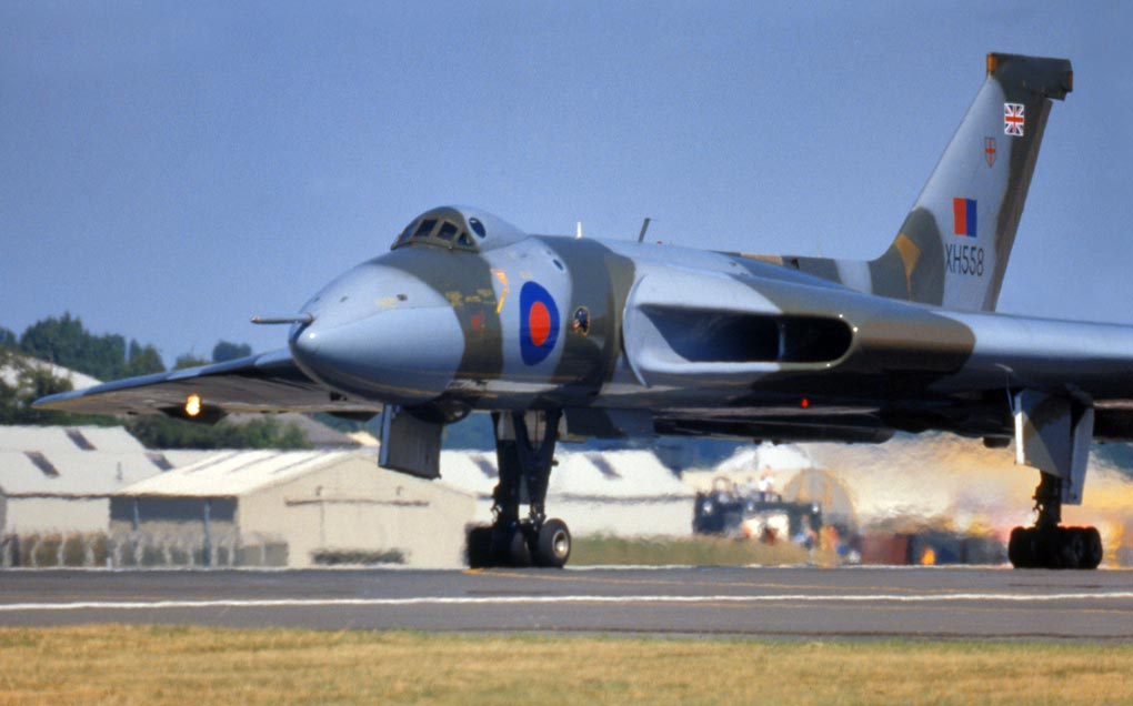 Avro Vulcan on its takeoff roll