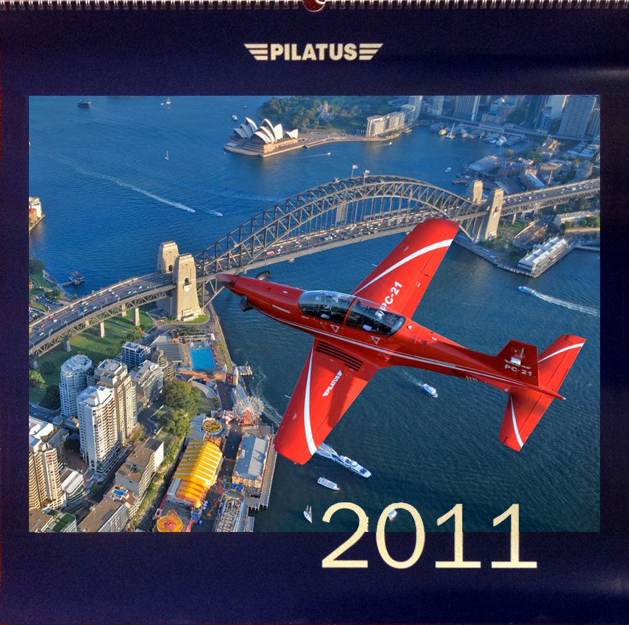 PC21 over Sydney Harbour. Calendar cover 2011. Shot from an AS350 helicopter