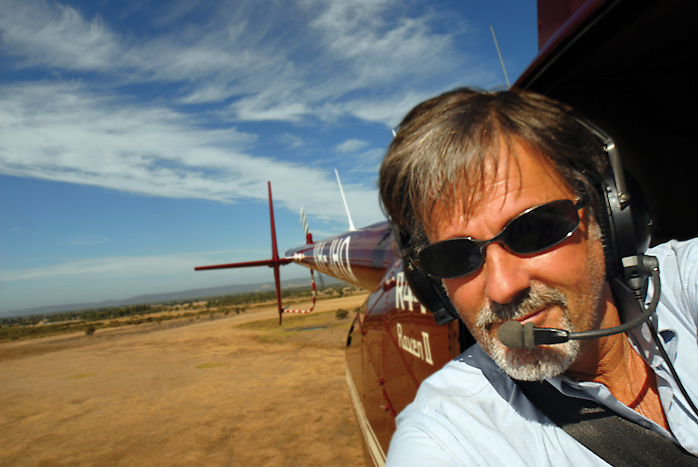 Self portrait from an R44 Clipper