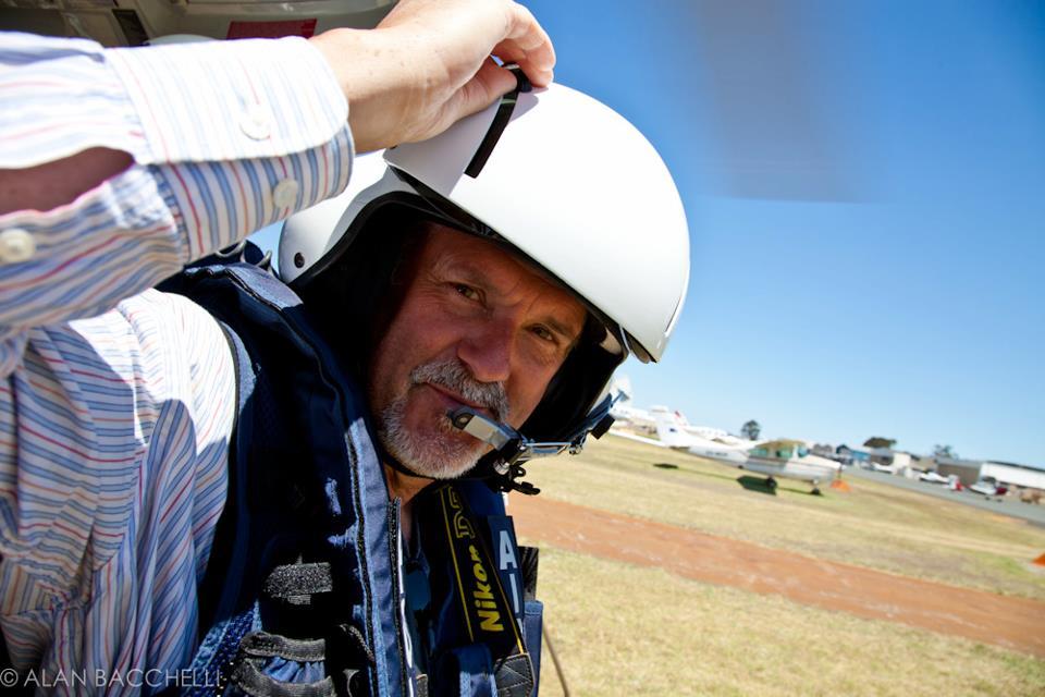 Jon in an AS350.Photo by Alan Bacchelli