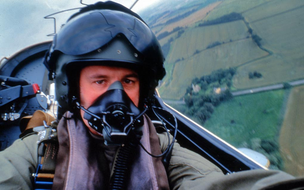 Self portrait in an RAF BAE Hawk, 1997