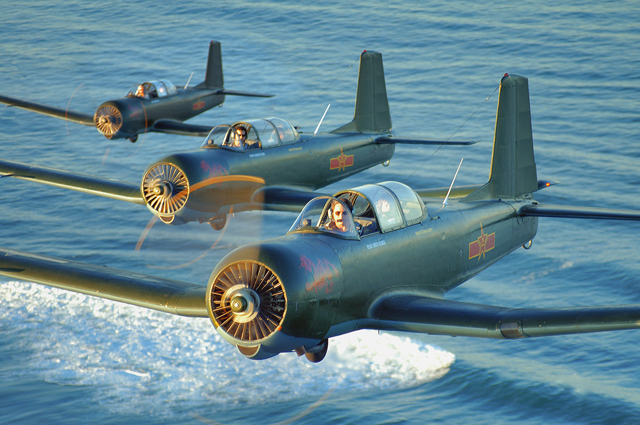 Three Nanchang CJ6A's