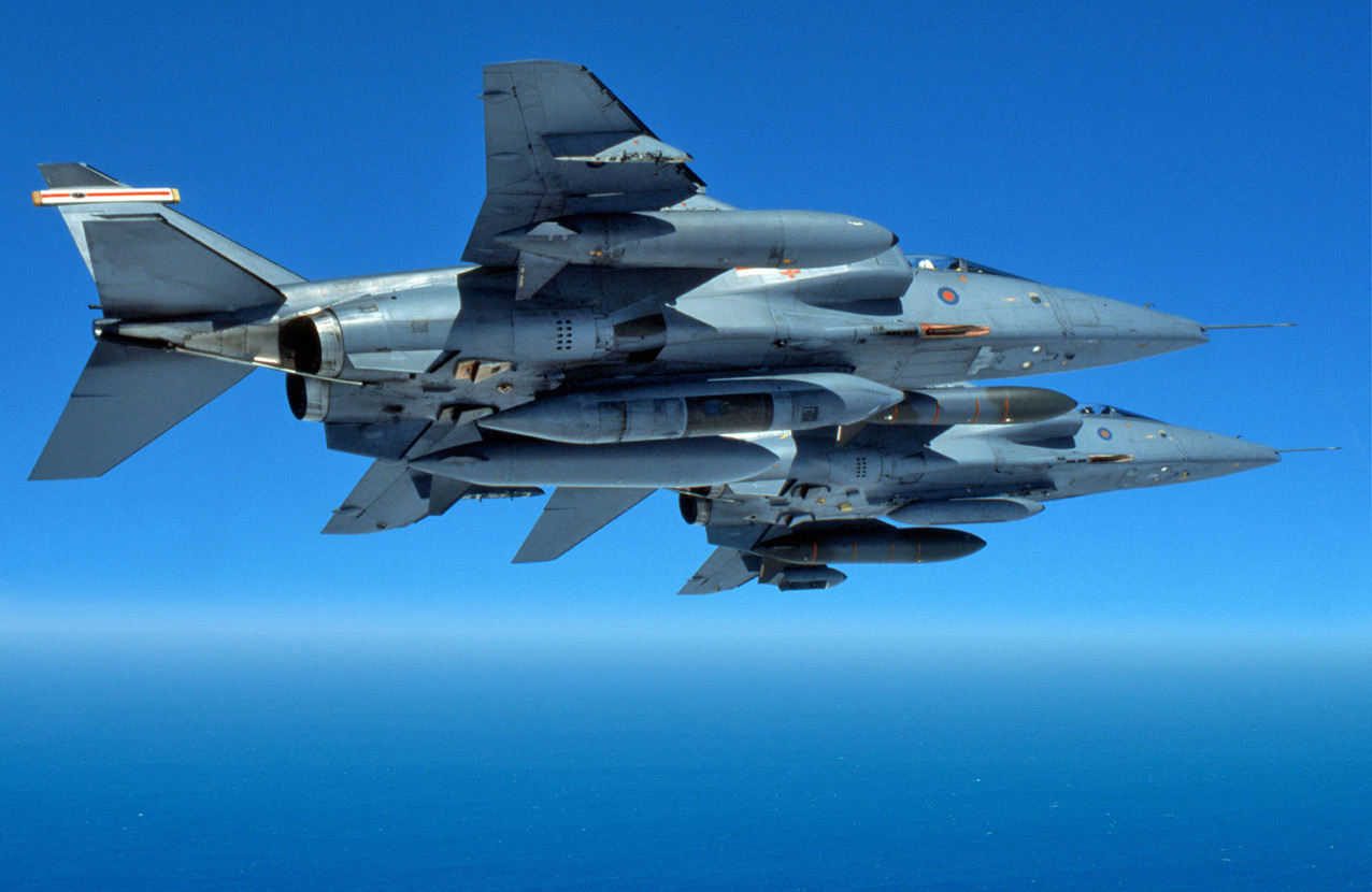 Two SEPECAT Jaguar's over the North Sea