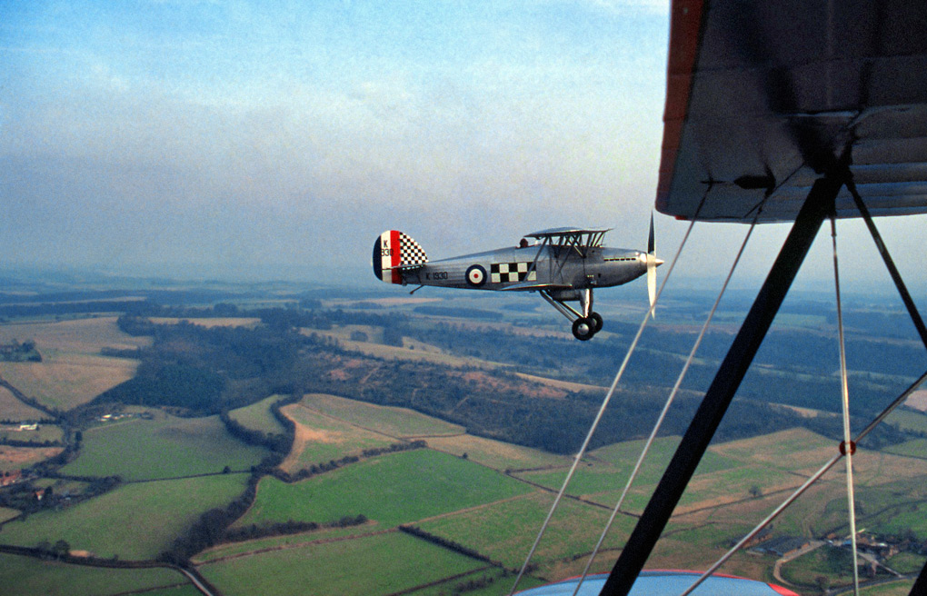 Shooting a Hawker Fury, from a Stampe S4C