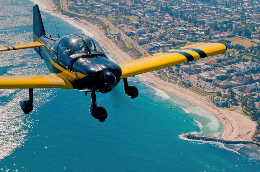 Robin 2020, over Cottesloe and Indiana Cafe