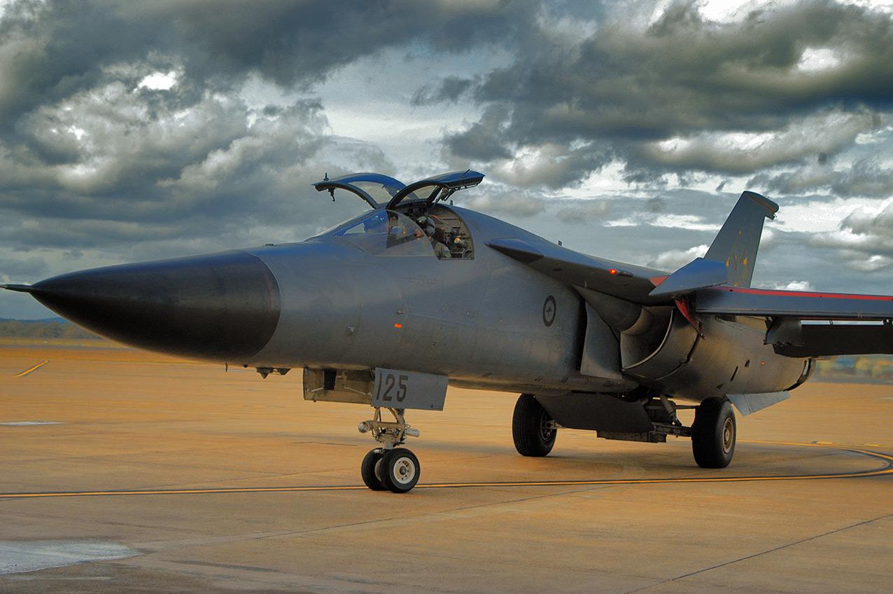 An RAAF F-111C at RAAF Amberley, 2004