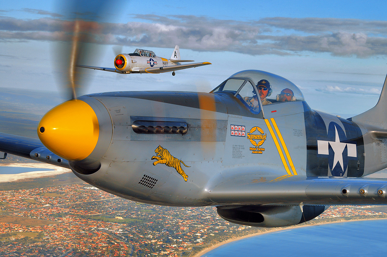 Werner Buhlmann flying the P51D in close to my camera!