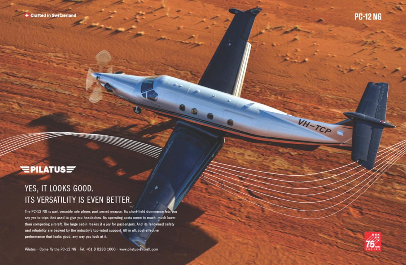 Pilatus PC12 press ad