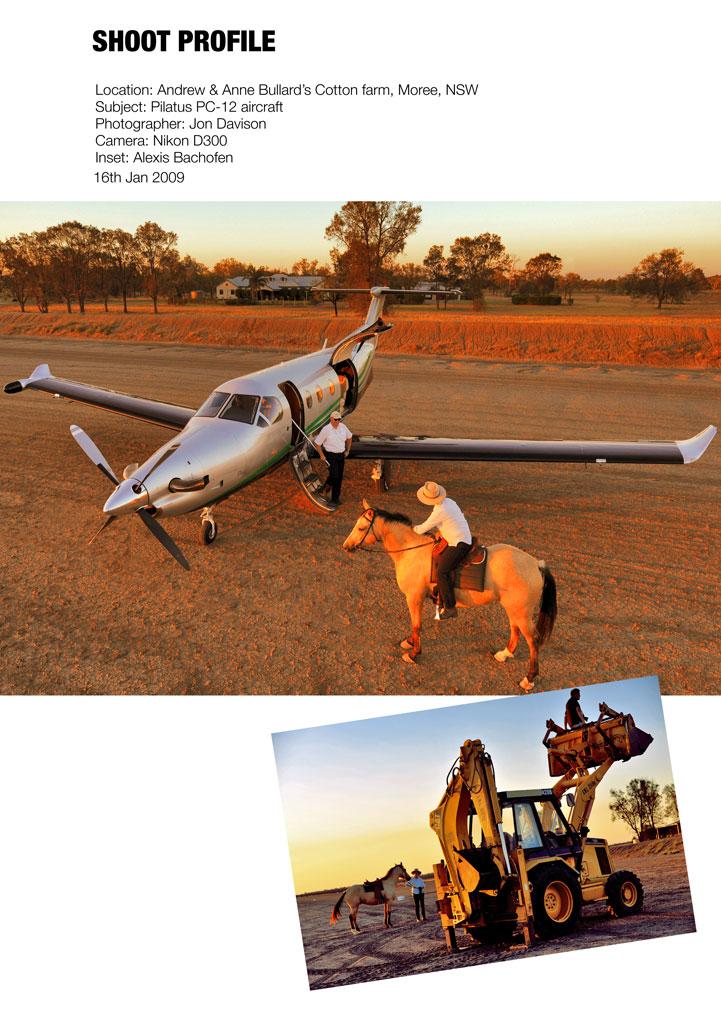 Pilatus PC12 and NSW farm