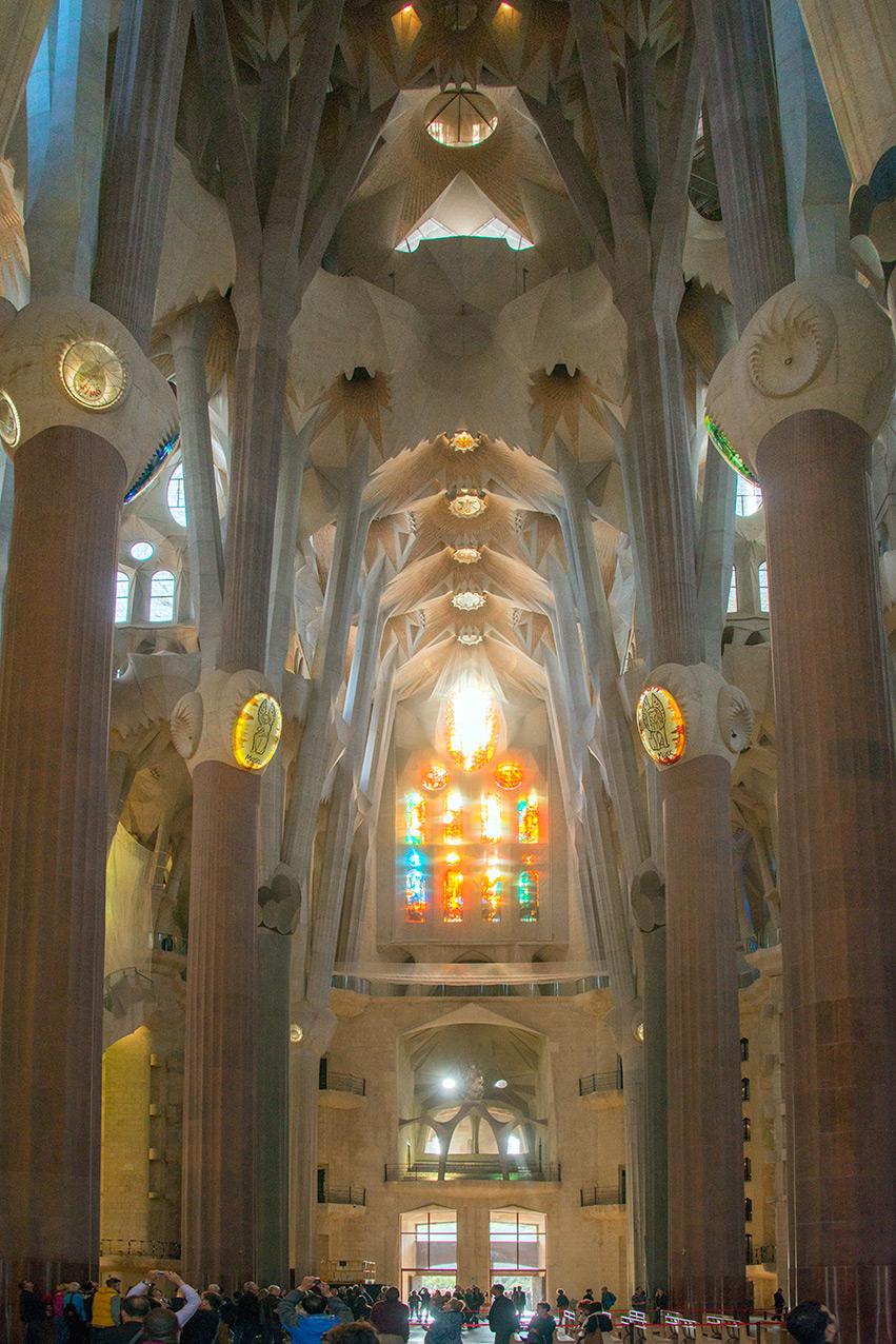 Interior of the Sagrada Família church, Barcelona