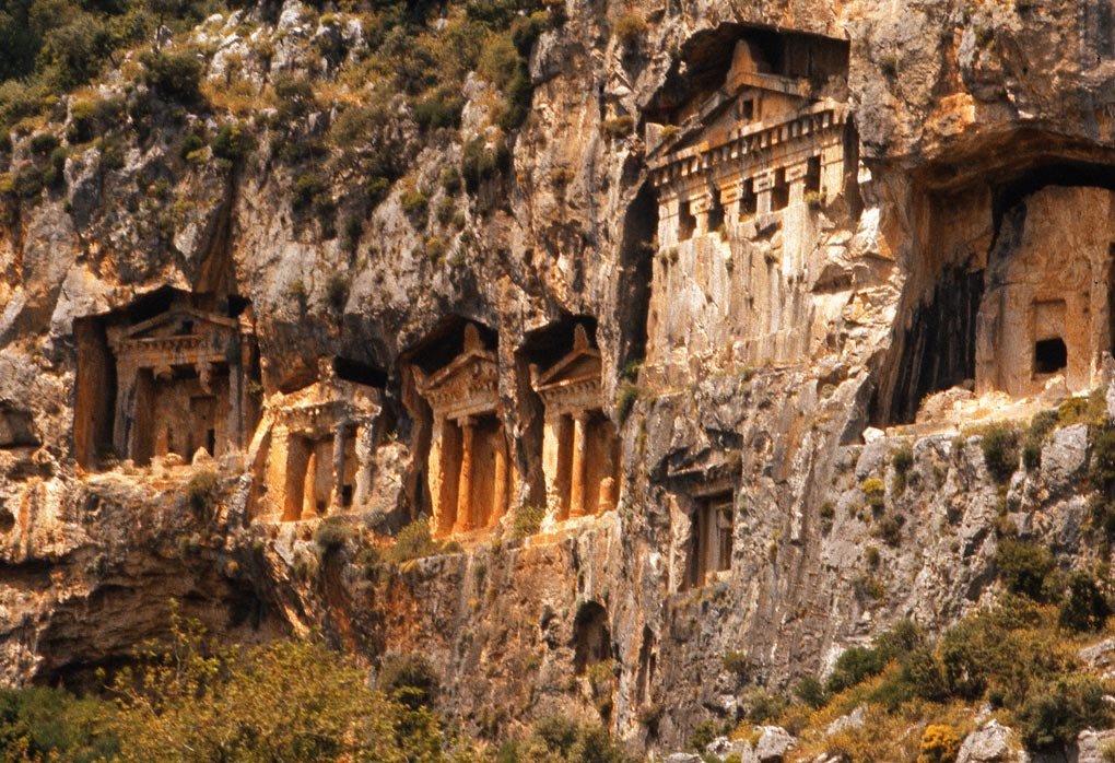 Lycian rock tombs, Dalyan River, Turkey