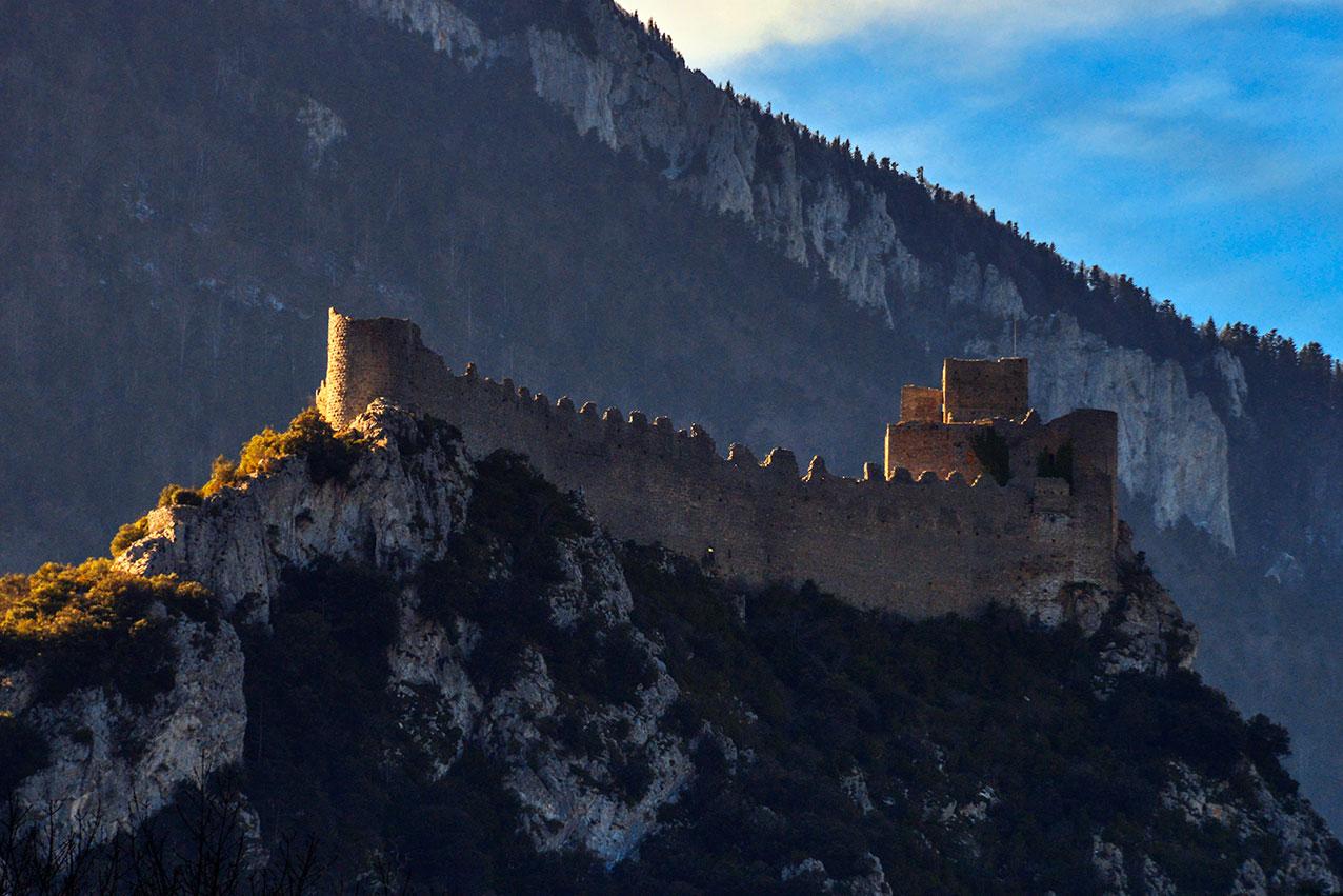 Puilarens Castle, Occitanie, France
