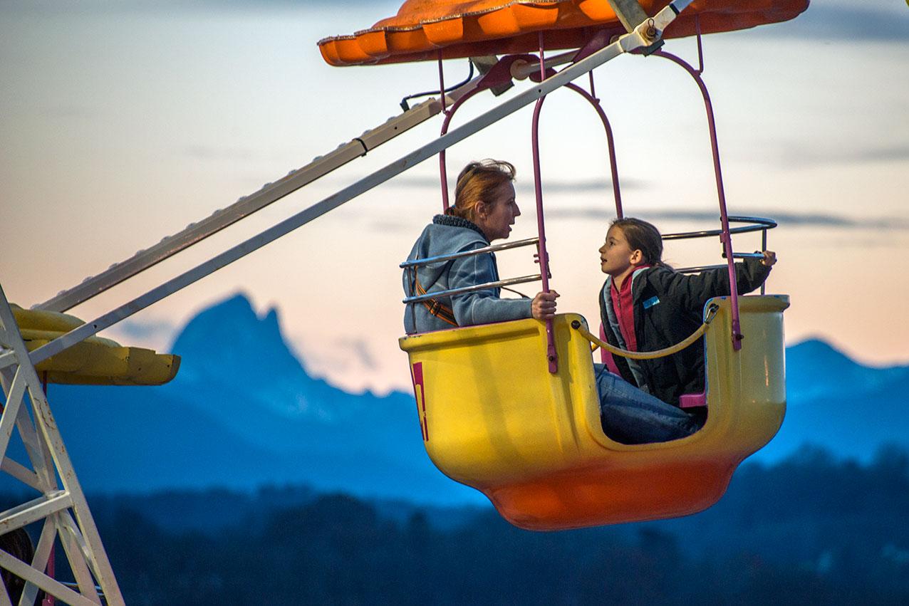 Fairground ride, Pau, France