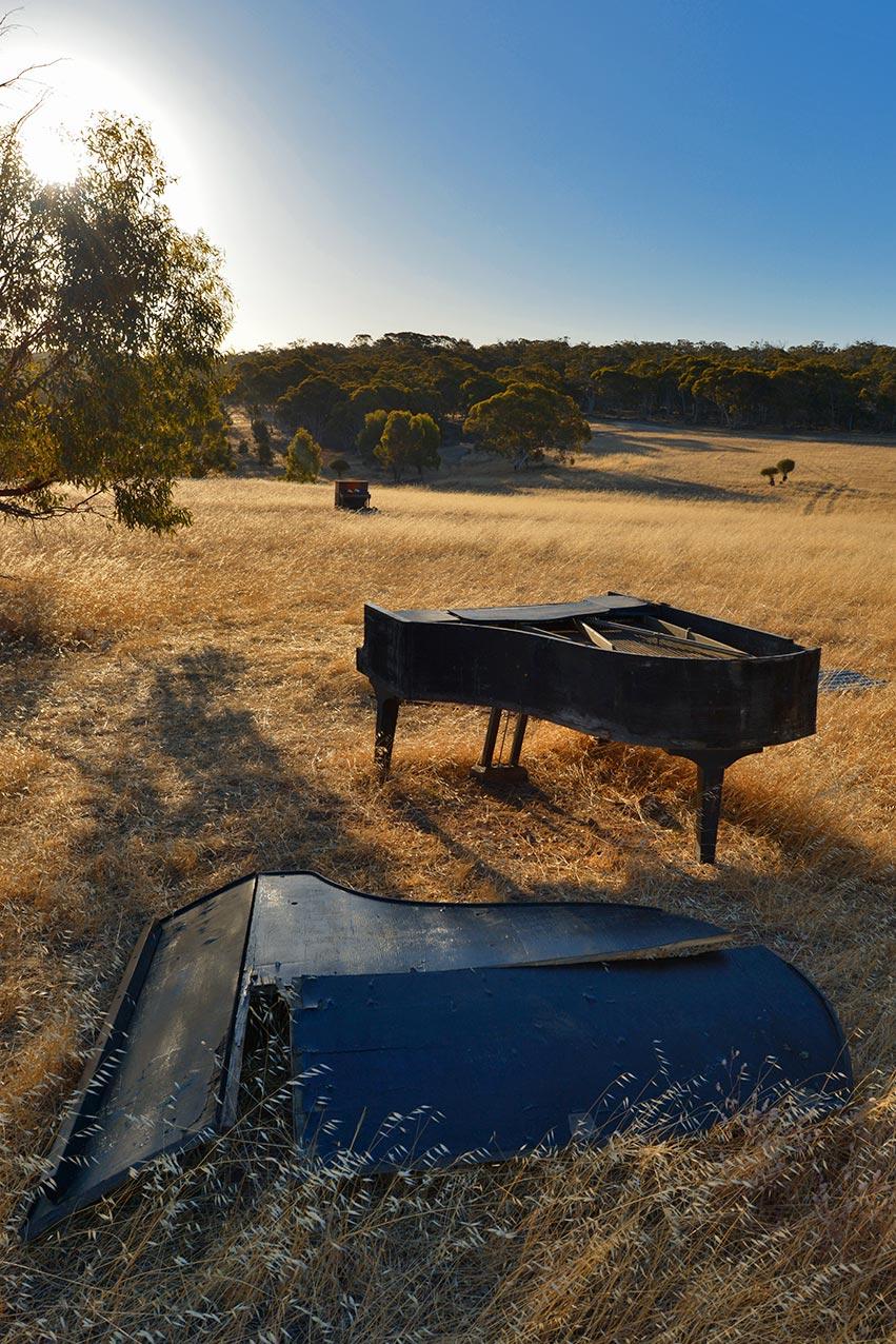 Piano graveyard, Western Australia